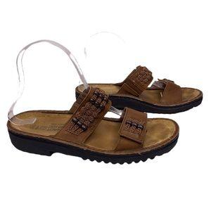 NAOT Genuine Leather Slide-on Sandals